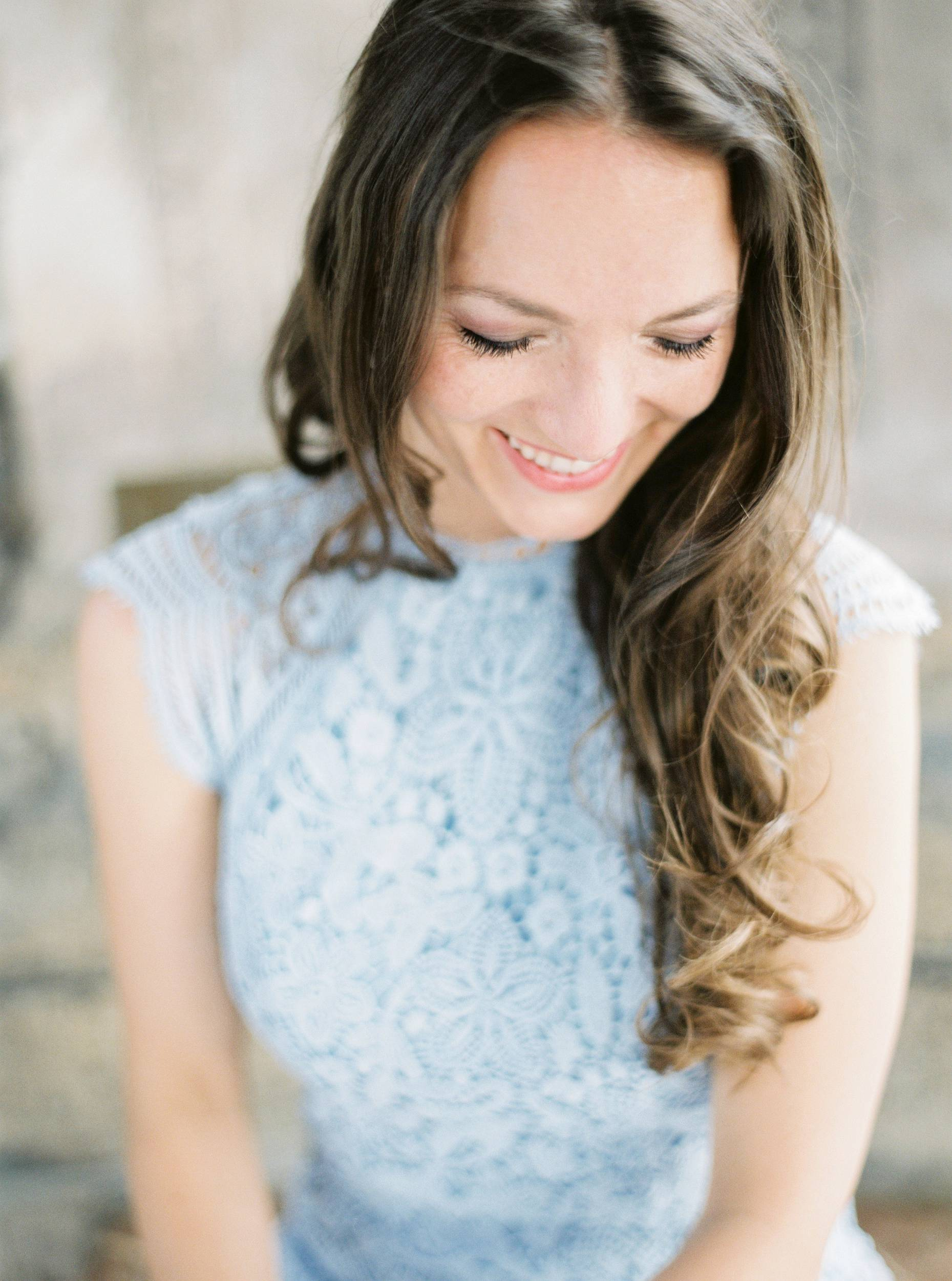 Munich engagement session blue dress