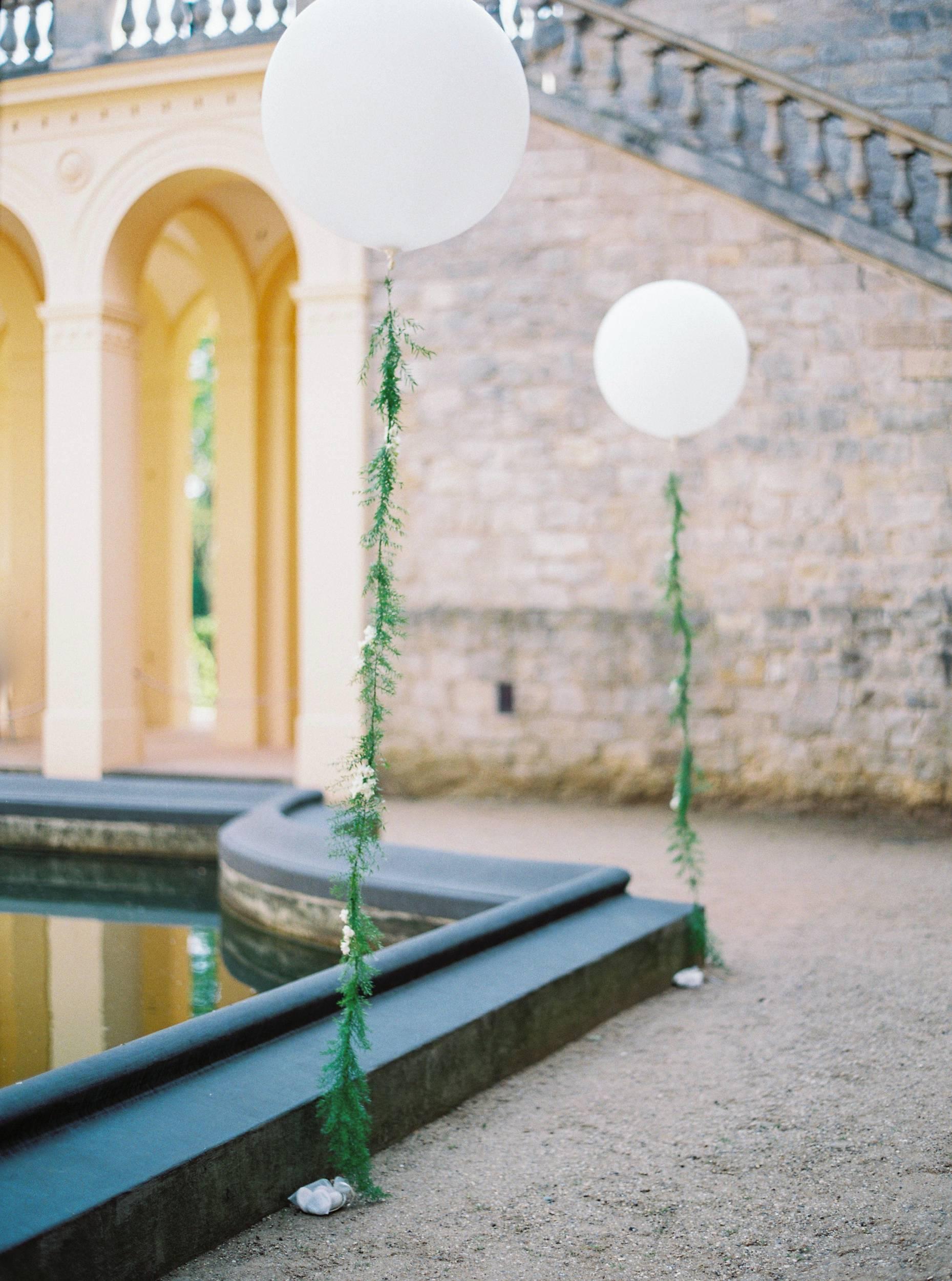 fun playful balloon wedding decoration