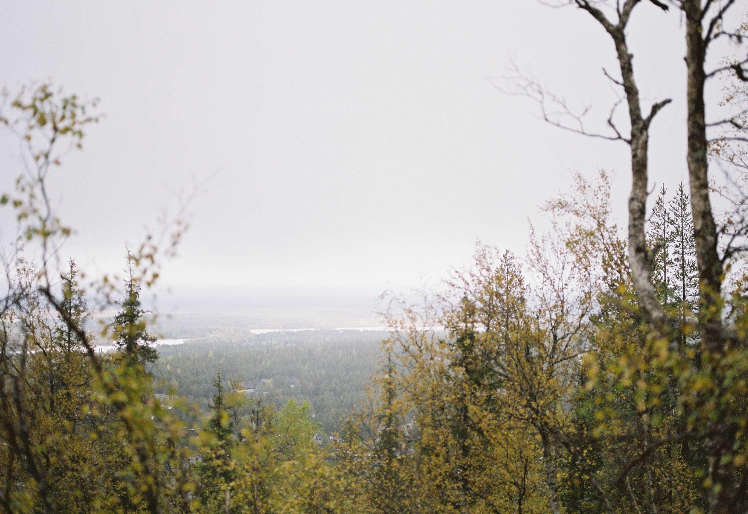 Lapland fall landscape