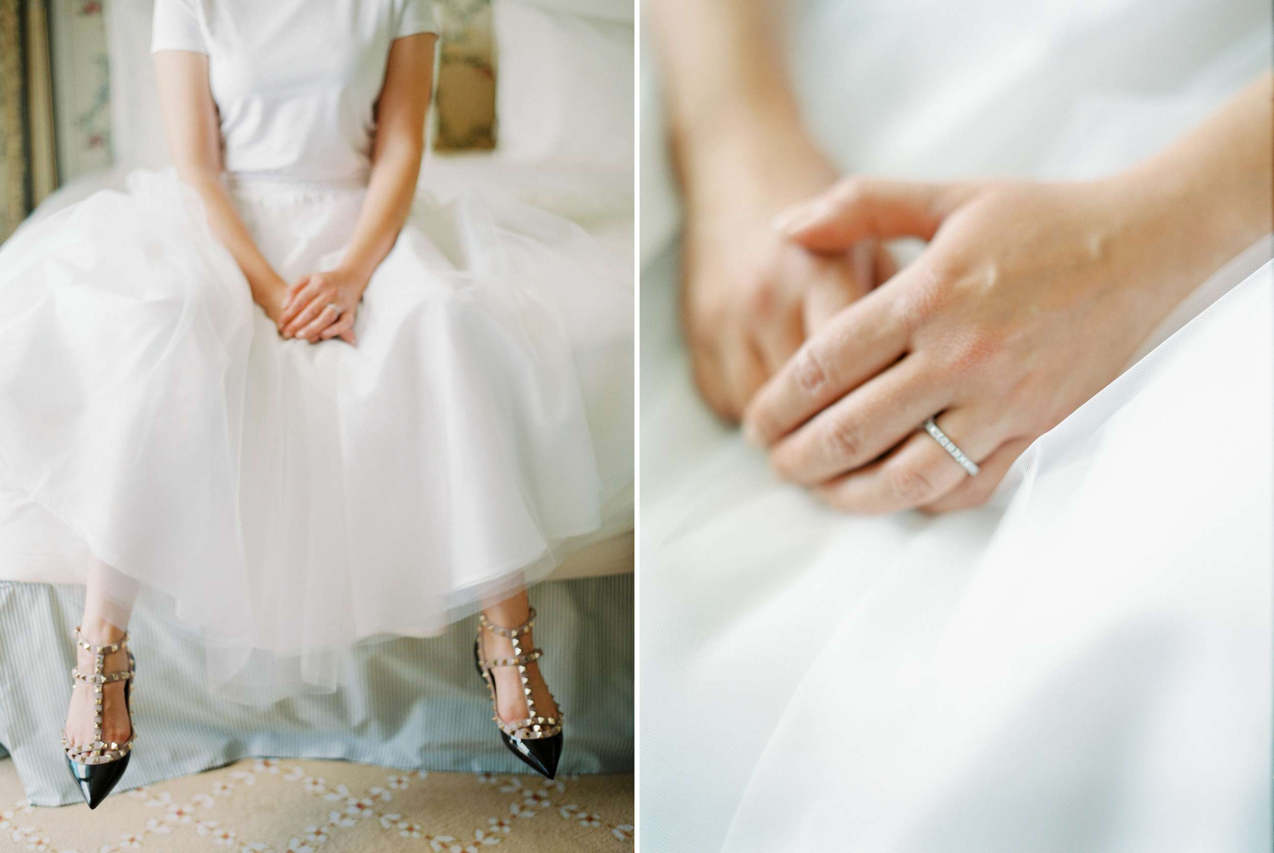 Paris Ritz tulle skirt simple wedding band