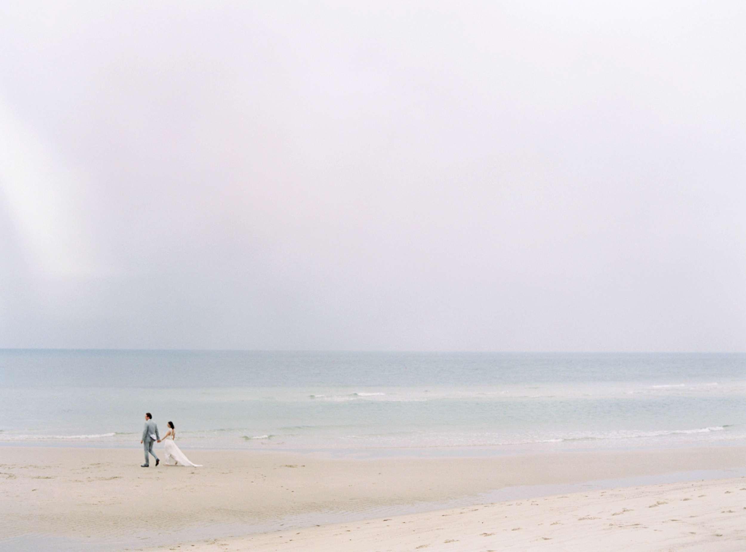 Bride and Groom beach wedding North Sea