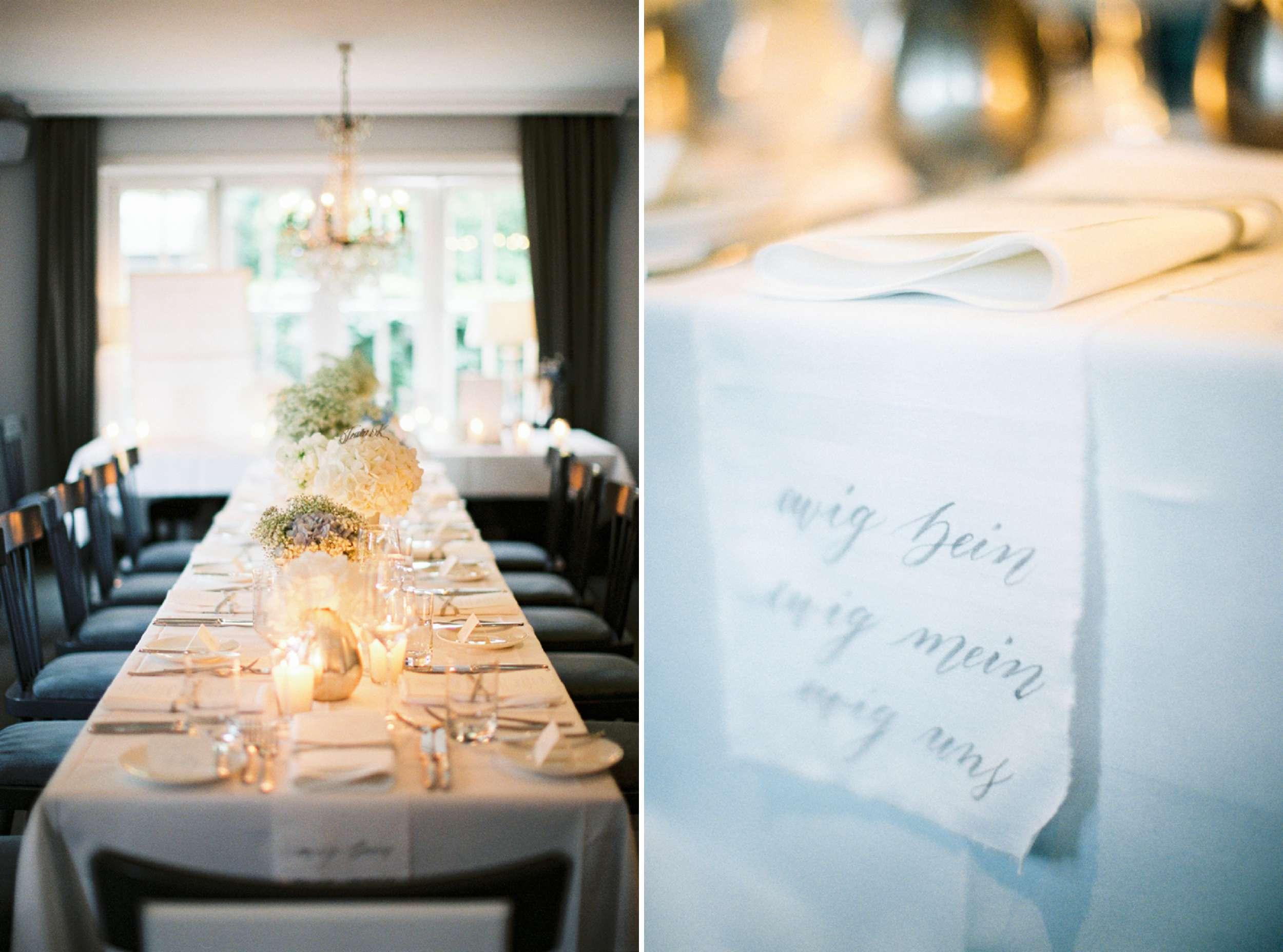 ewig dein mein uns wedding Hochzeit Tischäufer table