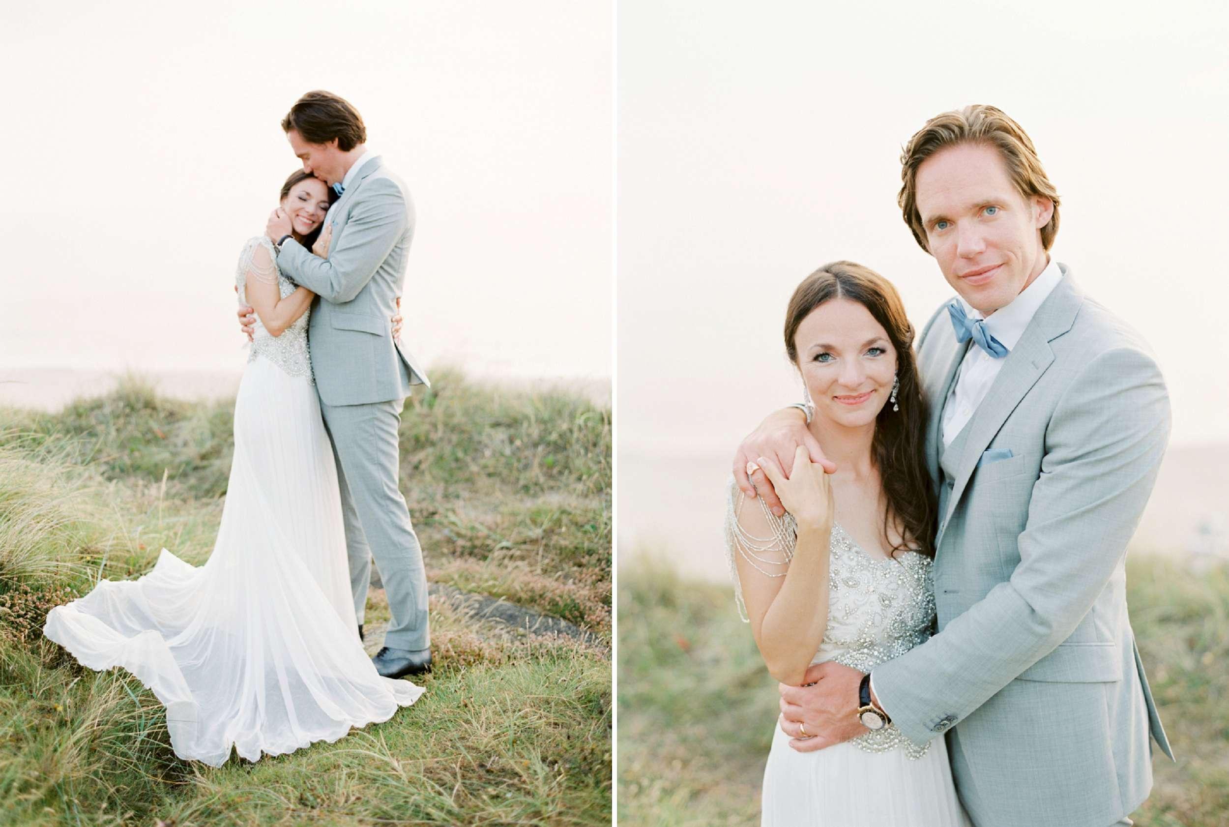bride and groom portraits North Sea